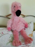 Build A Bear Pink Flamingo Plush Stuffed 18″ Tall 2014 Preowned Zoo Collection