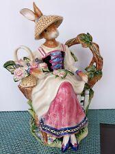 Fitz And Floyd Classic Old World Gardening Rabbit Tea Pot Teapot With Orig. Box