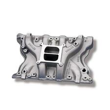 Weiand Intake Manifold 8010; Action+ Oval Port Satin Aluminum for Ford 351M/400