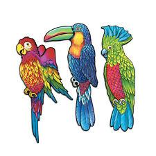 3 pc Cardboard Cutout  EXOTIC BIRDS Luau Tropical  Birthday Dance Party Decorati