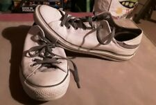 CONVERSE ALL STAR BASEBALL SHOES WHITE & GREY LO TOP CANVES ALLSTARS UK SIZE 8