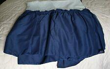 "Full Size Navy Blue Ruffled Bed Skirt 14"" Drop Full Under Mattress Fabric"