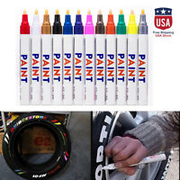 12PCS Permanent Paint Marker Pen For Car Tyre Tire Tread Rubber Metal Waterproof