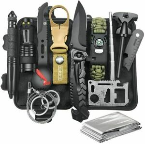 13in1 Survival Kit Außen Notfall Set Outdoor Camping Abenteuer Tool Camping