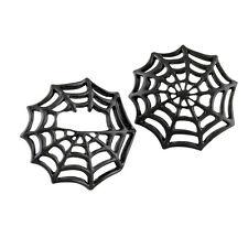 Black Spider Web Gas Cap Cover Set. Fits stock domed screw Harley Davidson caps