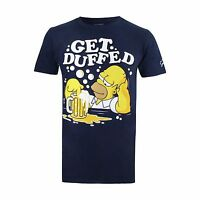The Simpsons Mens - Get Duffed - T-Shirt - Navy