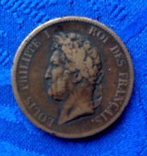 MONNAIE LOUIS PHILIPPE Ier DE 5 CENT DE 1839 A GUADELOUPE