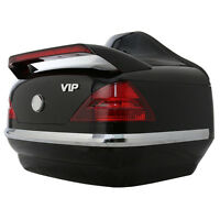 Black Larger Motorcycle Trunk Luggage Tour Pack Box W/ Tail Light For Honda