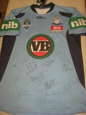 NSW STATE OF ORIGIN TEAM HAND SIGNED JERSEY UNFRAMED + PHOTO PROOF + C.O.A