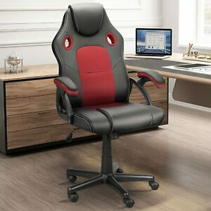 Gaming Racing Chair Ergonomic Swivel Recliner Leather Office Computer Desk Chair