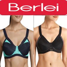 BERLEI Shift Underwire High Impact Sports Gym Underwire Bra Black Blue YYRK
