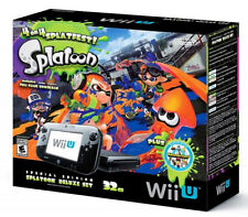 Nintendo Wii U Console W/ Games Splatoon,Minecraft,& Mario 3d In Original box