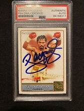 MANNY PACQUIAO Autographed Signed 2011 Allen & Ginter Trading Card PSA/DNA