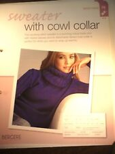 Sweater With Cowl Collar Knitting Pattern from Bergere de France Magazine