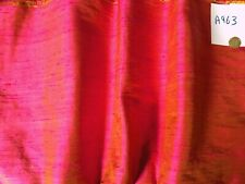 A963 fabric remnant 53 x 115 inches (3 yards) 100% SILK bright pink, 2 tone