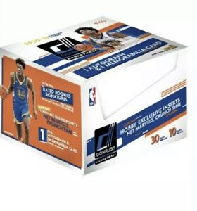 2020-21 Panini Donruss Basketball Factory Sealed Hobby Box In Hand