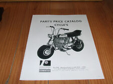 VINTAGE RUPP MINIBIKE PARTS PRICE CATALOG 4 PAGES  (REPRODUCTION )