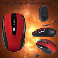 2000DPI 6Buttons 2.4GHz Wireless Portable Optical Mouse Scroll Mice PC Computer