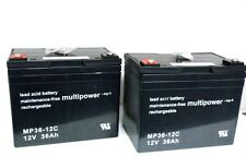 2 x Multipower MP36-12C  12V 36Ah  Blei Akku  Zyklen  Caddies  Rollstuhl