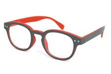 Kinder Computer Brille ohne Stärke mit Blue Light Filter & Flexbügel grau/rot