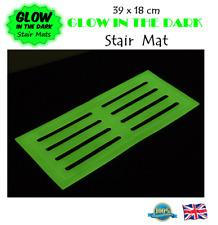 GLOW IN THE DARK STAIR MAT 39 x 18cm Stair Mat High Visibility Mat Stair Tread