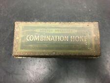 Vintage Norton Abrasives Combination Oilstone Wetstone WITH BOX BARBER BLADE