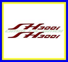 Kit 2 Adesivi HONDA SH 300 07>16 resinati in rilievo universali SH300 Rossi
