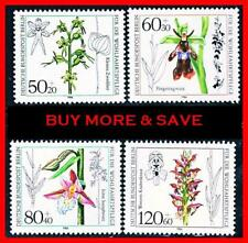 Germany-Berlin 1984 Flowers / Orchids Sc#9Nb216-19 Mnh Cv$9.15 Plants