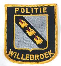 Willebroek Dutch Belgium Politie Police Patch