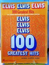 Elvis Elvis Elvis 100 Greatest Hits Sheet Music Piano / Vocal Edition