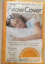 Good Morning Zippered Allergy and Asthma Pillow Cover Queen Size