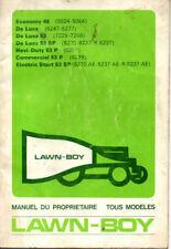 Manuel du proprietaire TONDEUSE A GAZON LAWN BOY economy 48 de luxe 53 hevi duty