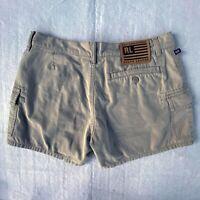 Polo Jeans Co Ralph Lauren Women's Size 6 Khaki Cargo Chino Tan Shorts