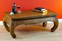 Tavolino da Salotto Tavolo Oppio Legno Massiccio 100 x 50cm in Nuovo