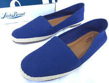 Lucky Brand Dexie Heavy Canvas Flats Slip-On Navy Loafers Shoes Women's 6.5 M
