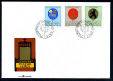 Liechtenstein FDC 1970 Coats of arms, wappen, Mi. 533 - 535.