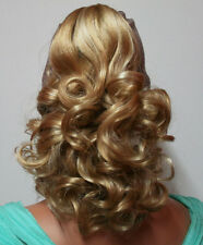Damen LOCKEN HAARTEIL Zopf Blond Mix Haarverlängerung Dutt Haarzopf HT12 NEU