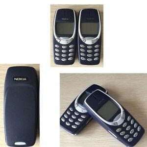 Unlocked Nokia 3310 Original Black Mobile Phone Classic Genuine 2G Bar Style