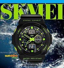 Skmei Imported Casual Analog & Digital PU Quartz Watch GREEN
