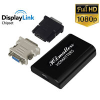 USB 3.0 to HDMI DVI VGA Adapter Converter Displaylink IC for windows 10/8/7/XP