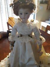 Bru Jne Reproduction Bride Doll Marked Priscilla 75 Rare Porcelain