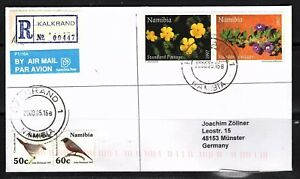 Namibia Cover - Kalkrand 16.05.2000 R Cover Flowers and Birds