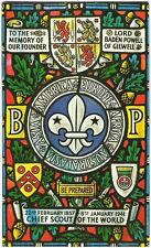 BADEN-POWELL GILWELL PARK WINDOW BADGE SCOUTS
