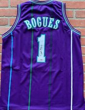 Muggsy Bogues autographed signed jersey NBA Charlotte Hornets PSA Wake Forest