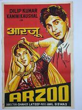 1950 Bollywood 1-sh Poster Arzoo Dilip Kumar Kamini Kaushal