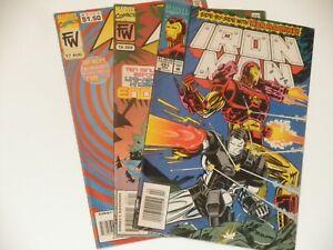 vintage Iron Man, War Machine comic lot Iron Man 291, War Machine 17,18