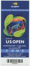 9/3 2019 US Open Tennis Courtside FULL TICKET Bianca Andreescu Serena Williams