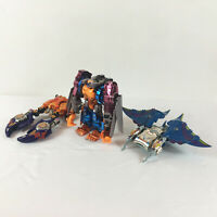 Lot of 3 Transformers Beast Wars Robot Figures Optimal Depth Charge Crab Ray
