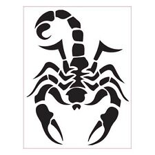 Scorpion autocollant sticker adhésif vert 17 cm