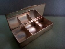 Lovely Antique 1910s 1920s Silver Plated Stamp Box